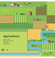 agriculture background vector image vector image