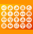 bankruptcy shape carved flat icons set vector image vector image