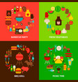 barbecue concepts set vector image vector image