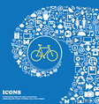 bicycle icon Nice set of beautiful icons twisted vector image