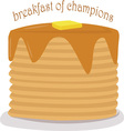 Breakfast Of Champions vector image