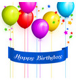 bunch colorful birthday balloons vector image