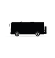 bus silhouette in black vector image
