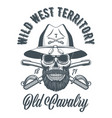 cavalry officer skull in vintage style vector image