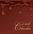 chocolate splash dark chocolate design isolated vector image vector image
