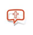 Christian cross message sticker orange vector image vector image