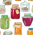 Colorful seamless pattern of mason jars vector image