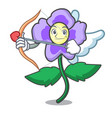 cupid pansy flower character cartoon vector image