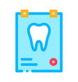 dental x-ray image stomatology sign icon vector image vector image