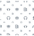 earphone icons pattern seamless white background vector image vector image