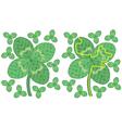 Easy four leaf clover maze vector image vector image