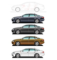 Executive car vector image