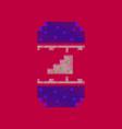flat shading style icon pixel cheeseburger vector image