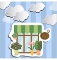 flower shop facade show-window vector image vector image