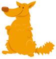 funny yellow shaggy dog cartoon character vector image vector image