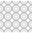 Geometric seamless pattern with dots vector image
