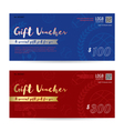 Gift voucher gift certificate gift card template vector image vector image