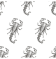Hand drawn engraving Scorpion seamless pattern for vector image vector image