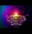 happy diwali indian lights festival colorful card vector image vector image