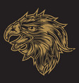 head eagle head vintage logo usa america vector image