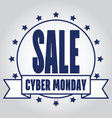 Insignias Logotypes cyber monday design eps10 Cybe vector image