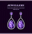 jewellery gemstones concept background realistic vector image