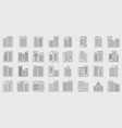 line company icons set building vector image vector image