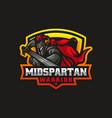 logo spartan warrior e sport and sport style vector image