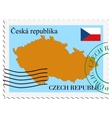 mail to-from Czech Republic vector image vector image