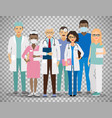 medical team on transparent background vector image vector image