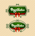 Merry Christmas Creative label vector image vector image
