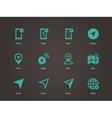 Navigator icons vector image