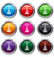 party hat set 9 collection vector image vector image