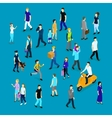 People In Crowd Isometric Collection vector image vector image