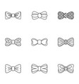 pharynx icons set outline style vector image vector image