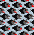 Piranha seamless pattern Many bloodthirsty marine vector image