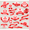 premium set labels and ribbons vector image vector image