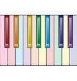 Rainbow piano keyboard vector image vector image
