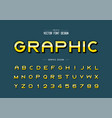 reflective font and alphabet gradient bold vector image vector image