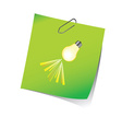 reminder green with light bulb vector image