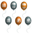 Sale balloons in 3D vector image