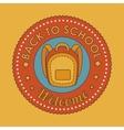 seal back to school icon vector image