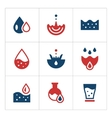 Set color icons of water vector image vector image