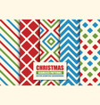 set colorful seamless geometric patterns - xmas vector image