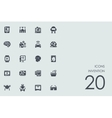 Set of invention icons vector image vector image