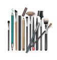 set of professional makeup concealer powder vector image