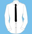Shirt and tie vector image