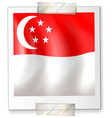 singapore flag on square paper vector image vector image