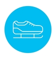 Skate line icon vector image