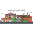 staten island new york city skyline vector image vector image